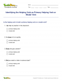 Identifying the Helping Verb as Primary Helping Verb or Modal Verb - verb - Fourth Grade