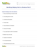 Identifying Helping Verb in a Sentence Part 2 - verb - Fourth Grade