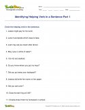 Identifying Helping Verb in a Sentence Part 1 - verb - Fourth Grade
