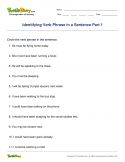 Identifying Verb Phrase in a Sentence Part 1 - verb - Fourth Grade
