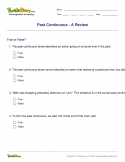 Past Continuous - A Review - verb - Fourth Grade