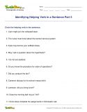 Identifying Helping Verb in a Sentence Part 5 - verb - Fifth Grade