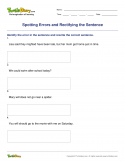 Spotting Errors and Rectifying the Sentence - verb - Fourth Grade