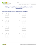 Adding a 1-digit Number to a 2-digit Number (with regrouping) - addition - First Grade