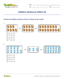 Addition Sentences Within 20