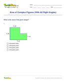 Area of Complex Figures (With All Right Angles) - area-and-perimeter - Third Grade