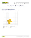 Area of Irregular Figures on Graphs - area-and-perimeter - Third Grade