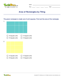 Area of Rectangles by Tiling - units-of-measurement - Third Grade