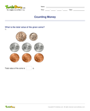 Counting Money Part 2 - units-of-measurement - First Grade