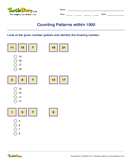 Counting Patterns within 1000 - whole-numbers - Second Grade
