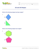 2D and 3D Shapes - shapes - Fourth Grade