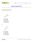 Types of Angles Part 1 - angles - Third Grade