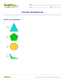 Classify Quadrilaterals - shapes - Third Grade