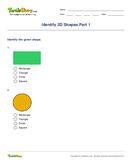 Identify 2D Shapes Part 1 - shapes - First Grade