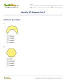 Identify 2D Shapes Part 2 - shapes - Second Grade