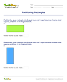 Partitioning Rectangles - shapes - Second Grade