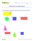 Relate Planar and Solid Figures - shapes - First Grade