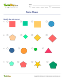 Same Shape - shapes - First Grade