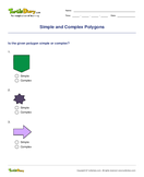 Simple and Complex Polygons - shapes - Fourth Grade