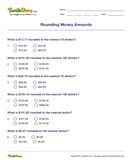 Rounding Money Amounts - money - Fourth Grade