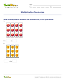 Multiplication Sentences - multiplication - Third Grade