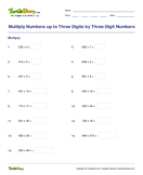 Multiply Numbers up to Three Digits by Three-Digit Numbers - multiplication - Fifth Grade
