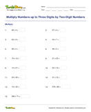 Multiply Numbers up to Three Digits by Two-Digit Numbers - multiplication - Fifth Grade