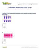 Understand Multiplication Using Arrays - multiplication - Third Grade