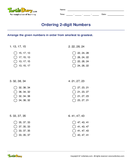 Ordering 2-digit Numbers - whole-numbers - First Grade