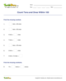 Count Tens and Ones Within 100 - whole-numbers - First Grade
