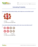 Calculating Probability - probability - Fourth Grade