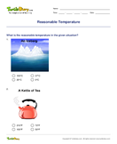 Reasonable Temperature - units-of-measurement - Third Grade