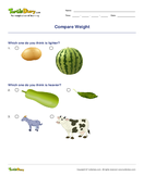Compare Weight - units-of-measurement - First Grade