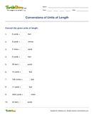 Conversions of Units of Length - units-of-measurement - Third Grade
