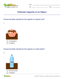 Estimate Capacity of an Object - units-of-measurement - Third Grade