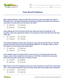 Time Word Problems - units-of-measurement - Fourth Grade