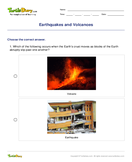 Earthquakes and Volcanoes - earth-and-its-resources - Fourth Grade