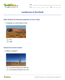 Landforms of the Earth - earth-and-its-resources - Second Grade
