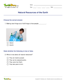 Natural Resources of the Earth - earth-and-its-resources - First Grade
