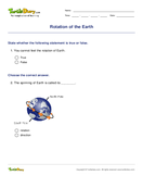 Rotation of the Earth - earth-and-its-resources - Second Grade