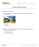 Weathering and Erosion - earth-and-its-resources - Third Grade