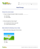 Heat Energy - energy - Second Grade