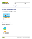 Energy Part 1 - energy - First Grade