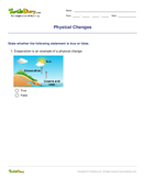 Physical Changes - matter - Fourth Grade