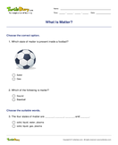 What Is Matter? - matter - First Grade