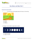 Sun, Moon, and Stars Part 1 - solar-system - First Grade