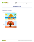 Seasons Part 1 - weather-and-seasons - First Grade