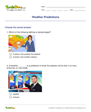 Weather Predictions - weather-and-seasons - Fifth Grade