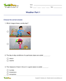 Weather Part 1 - weather-and-seasons - First Grade