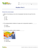 Weather Part 2 - weather-and-seasons - Second Grade